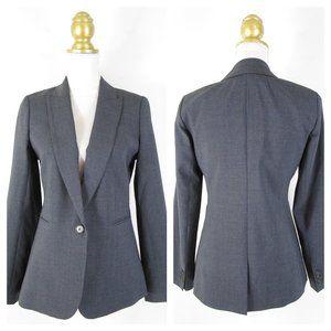 J. Crew 365 Solid Gray Italian Wool Blazer Jacket